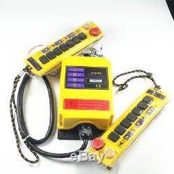(1) 2 Speed 2 transmitter Control Hoist Crane Radio Remote Controller 1 receiver