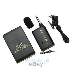 10X Wireless FM Transmitter Receiver Lavalier Lapel Clip Microphone Mic System