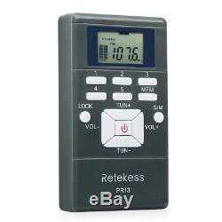 10xRadio Receiver+Wireless 15W PLL FM Transmitter Radio Stereo Station Bluetooth