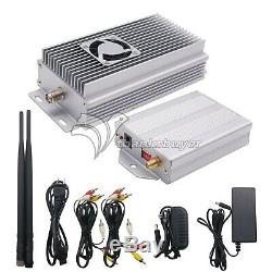 2.4G 10W Wireless HD Audio Video AV Transmitter Receiver send+4-Chan for TV IPTV