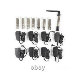 2.4G DMX512 Wireless Transmitter +7 Receivers +8 Adaptors Stage Light Controller