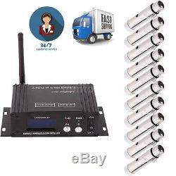 2.4G Wireless DMX Transmitter LCD Display + 4/6/8/10 Female XLR Receiver DJ K2B2