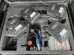 2 Sennheiser ew100 g3 wireless transmitter, receiver & lavalier mics