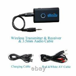 2 in 1 Wireless Stereo Bluetooth Transmitter and Receiver Audio/TV/DVD Adpater