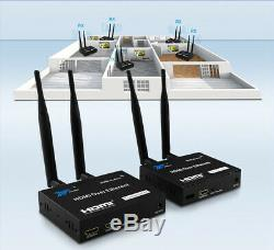 200M Wireless WiFi HDMI Transmitter Receiver TV Loop-out HDMI Extender Extension