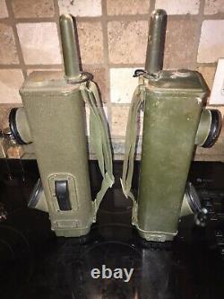 2lot Pair WWII US Army Radio Receiver Transmitter BC-611 Walkie/Handie Talkie