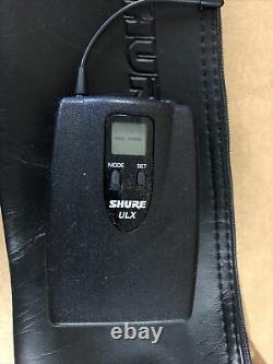 2x Shure ULXP4 ULX1-M1 Wireless Microphone Receiver/Transmitter 662-698MHz