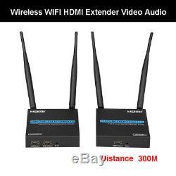 300M Wireless HDMI Extender Transmitter Receiver Video Audio HDCP 1080P 5.8GHz