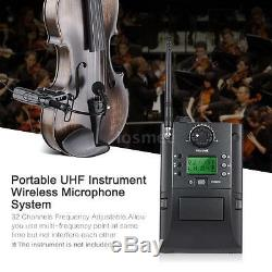 32 Channels UHF Wireless Microphone System Receiver Transmitter for Violin D0U6