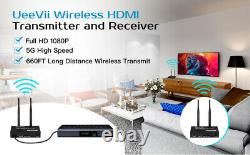 5.8G HD Wireless Video/Audio Transmitter & Receiver Dual Antenna For Video Games