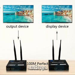 5G/2.4GHz Wireless Wifi HDMI Extender 200m Transmitter Receiver Video Converter