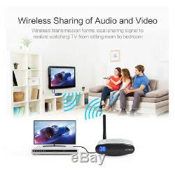 AV Transmitter Wireless Video Audio Sender Receiver IR Remote 2.4G