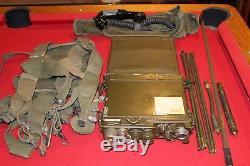 Army Military Surplus Rt175 Prc 10 Receiver Transmitter Field Phone Radio Base
