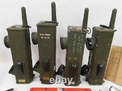 BC-611 WWII US Military Radio Transmitter Receiver Lot + Manuals + MS-85 Antenna