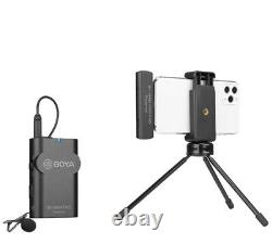 BOYA Wireless Lavalier Microphone Transmitter Receiver for iOS iPhone X 11 Pro 8