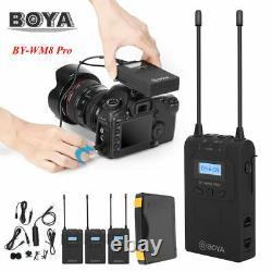 Boya BY-WM8 Pro-K2 Wireless Interview Clip-on Microphone 2X Transmitter Receiver