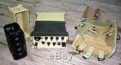 C1990 IRAQI ARMY Portable Field MANPACK Desert Storm RADIO TRANSMITTER RECEIVER
