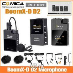 COMICA BoomX-D D2 2.4G Wireless Lavalier Microphone + 2x Transmitter 1x Receiver