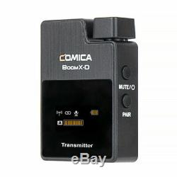 COMICA BoomX-D D2 2.4G Wireless Lavalier Microphone + 2x Transmitter Receiver
