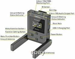 COMICA BoomX-U U2 Broadcast UHF Wireless Microphone System Transmitter Receiver
