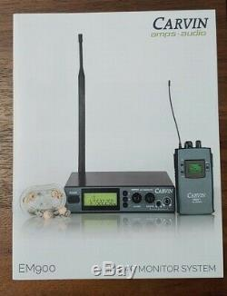 Carvin EM900 Wireless In-ear Personal Monitor Transmitter & Receiver System