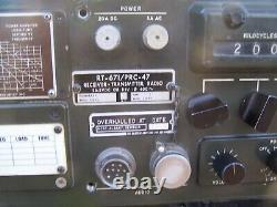 Collins military RT-671/PRC-47 Receiver Transmitter Radio