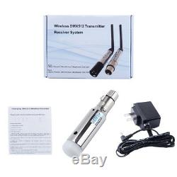 DMX512 Wireless Transmitter Built-in Battery Receiver Control 400m Stage Lights