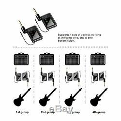 Digital Wireless Guitar Transmitter Receiver System Set, Ultra-Low Latency 200ft