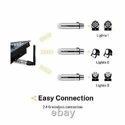 Donner DMX512 Wireless Receivers Light Dome Transmitter LED Light 8 Pcs Silver
