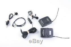 EXC++ SENNHEISER EW 100G3 EK100 RECEIVER AND SK100 TRANSMITTER withATR 3350 MIC