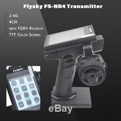 Flysky FS-NB4 2.4G 4CH Noble Radio Transmitter with FGR4 Receiver HVGA 3.5 L8X2