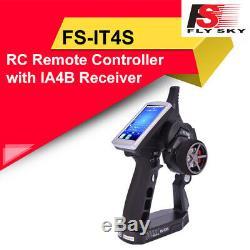 Flysky FS-iT4S Transmitter 2.4GHz AFHDS Radio Gun RC Car Boat FS-IA4B Receiver