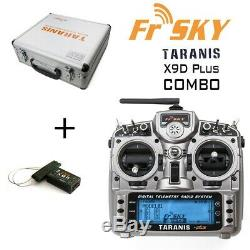 FrSky Taranis X9D Plus Radio Transmitter with X8R Receiver and Aluminum Case