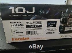 Futaba 10JA 10ch 2.4ghz FHSS RC Airplane radio complete with receiver R3008SB