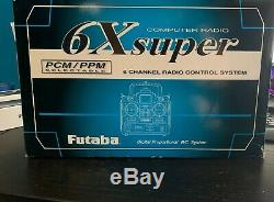Futaba 6X Super 6 Channel Computer Radio PCM/PPM transmitter receiver 6XA-PCM