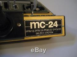 Graupner MC-24 Gold Edition RC Radio Control Transmitter Case 2.4 Hott Receiver