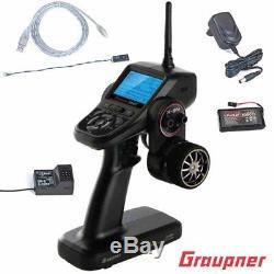 Graupner S1018 X-8N 4 CH 2.4GHz HoTT Transmitter / Car Radio with GR-8 Receiver