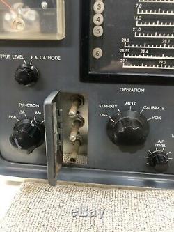 Hammarlund HX-Fifty HX-50 Ham Radio Transmitter. Powers On For Parts