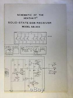 Heathkit Sb-303 Solid-state Ssb Receiver With Manual, Ham Radio