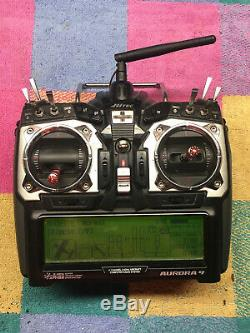 Hitec Aurora 9 2.4GHz R/C Transmitter Radio, 3 receivers