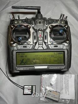 Hitec Aurora 9X Radio Transmitter 9 Channel In Case With 2 Receivers