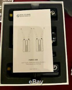 Hollyland Mars 300 Dual HDMI Wireless Video Transmitter & Receiver Set used once