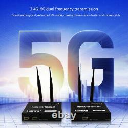 IR Remote 5G Audio Video Wireless 1080P HDMI Extender Transmitter Receiver