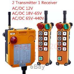 Industrial Radio Wireless Remote Control Transmitter Receiver Hoist Crane 8 Keys