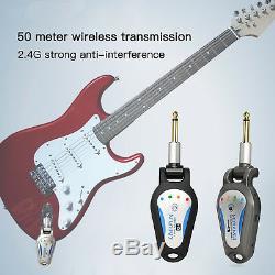 KIMAFUN DIGITAL WIRELESS ELECTRIC GUITAR 6.35mm JACK PLUG TRANSMITTER RECEIVER