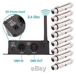LOT Lixada 2.4G Wireless DMX512 Transmitter LCD Display Female XLR Receiver US