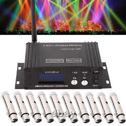 LOT Lixada 2.4G Wireless DMX512 Transmitter LCD Display Repeater XLR Receiver US