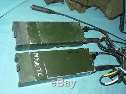 Lot of 2 RACAL-BCC RT349 Transmitter Receiver RT-349 + Headsets British Military