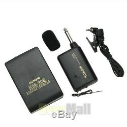 Lots Wireless FM Transmitter Receiver Lavalier Lapel Clip Microphone Mic System
