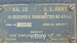Military Radio Signal Corps BC-474 WWII Transmitter Receiver #2